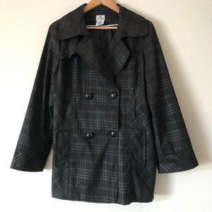 WORTHINGTON COAT Jacket Black Plaid